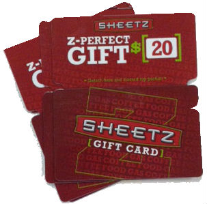 The Sheetz Z-Card is the perfect gift any day! Z-Cards are redeemable at all of our over locations in PA, MD, OH, WV, VA and NC. You can purchase Z-Cards in .